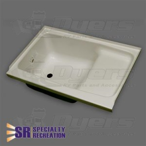 """Specialty Recreation 24"""" x 36"""" LH Parchment Step Tub"""