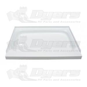"""Lippert Components Better Bath 32"""" x 24"""" White Left Hand Center Drain Shower Pan"""