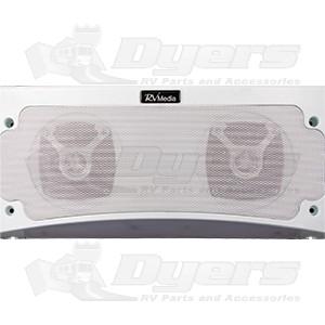 King Controls/RV Media Premium Bluetooth White Weatherproof Speaker & Awning Light