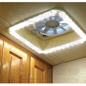 Hengs White Led Vent Light Trim Kit Roof Vent Garnishes