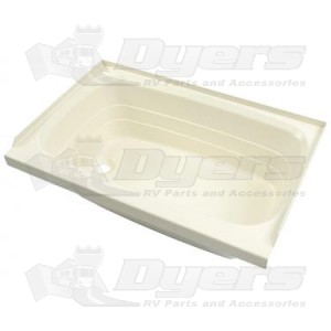 "Lippert Components Better Bath 27"" x 54"" Almond Left Hand Center Drain Bathtub"