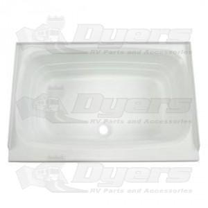 """Lippert Compnents 24"""" x 36"""" White Center Drain Bathtub"""