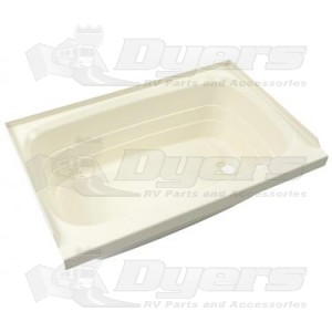 "Lippert Components Better Bath 27"" x 54"" White Right Hand Center Drain Bathtub"