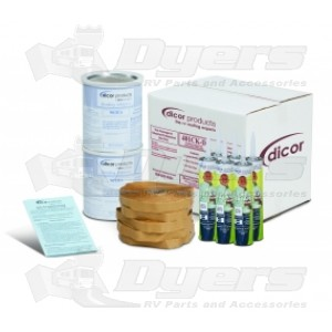 Dicor Dove White EPDM (Ethylene Propylene Diene Monomer) And TPO (Thermoplastic Olefin) RV Roof Membrane Installation Kit