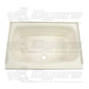 """Lippert Components 24"""" x 36"""" Center Drain Parchment Bathtub"""