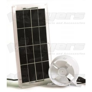 Camco Replacement Solar Panel and Fan for Refrigerator Roof Vent