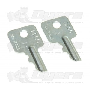 JR Old Style Hatch Lock Replacement Lock Keys