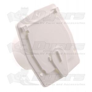 JR Power Cord Cable Hatch - Polar White S-27-10-A