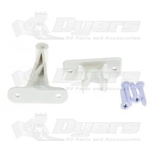 "JR Products Polar White 3"" Long C-Clip Door Catch"