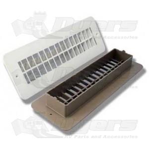 """JR Polar White 2-3/8"""" x 10"""" Floor Register"""