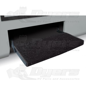 "Prest-O-Fit Black 23"" Jumbo Wraparound RV Step Rug"