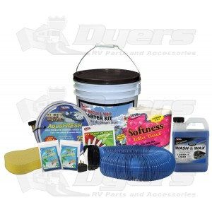 Valterra Standard Wash & Wax RV Starter Kit Bucket