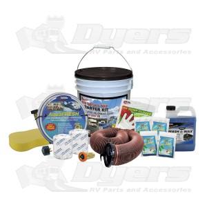 Valterra Deluxe Wash & Wax RV Starter Kit Bucket