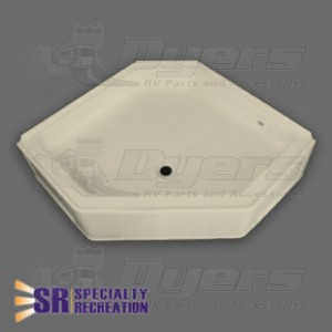 """Specialty Recreation 36"""" x 36"""" Parchment Neo Angle Front Center Drain Shower Pan"""