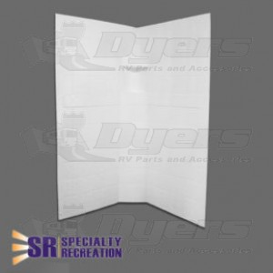 """Specialty Recreation 32"""" x 32"""" x 67"""" White Neo Angle Shower Wall Surround"""