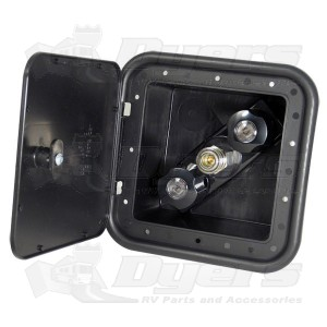 Phoenix Faucets Exterior Spray Port Outlet Box in Black