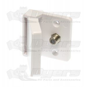 Prime Products Polar White Single Outdoor TV Outlet