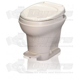 Thetford Aqua Magic V Low Profile Foot Flush with Water Saver White Toilet