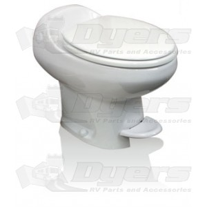 thetford aria classic white high profile with water saverfoot flush toilet. Black Bedroom Furniture Sets. Home Design Ideas