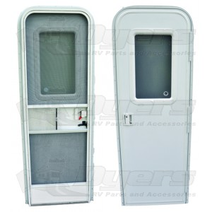 AP Products 30 x 72 Radius Entrance Door RH - White Lock