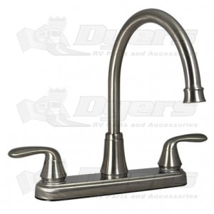 Phoenix Brushed Nickel Two Handle Hybrid Hi-Arc Kitchen Faucet
