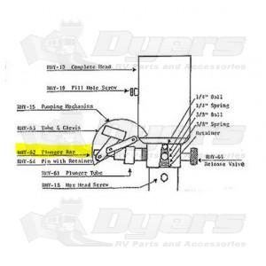 Rieco-Titan Replacement Camper Jack Hydraulic Pump Mechanism Plunger Bar