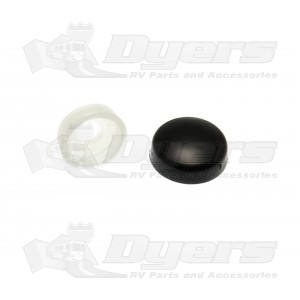 RV Designer Black Screw Covers