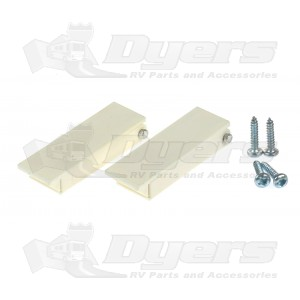 RV Designer Square Colonial White Baggage Door Catch Kit