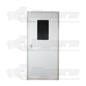 AP Products 32 X 72 Square Entrance Door RH   White Lock