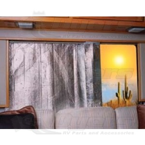 """Camco 30"""" x 62"""" Reflective Side/Back Window Cover"""