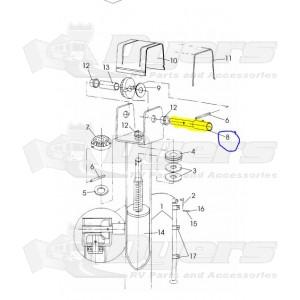 Rieco-Titan Replacement Jack Crankshaft for Mechanical 2000 Pound Capacity