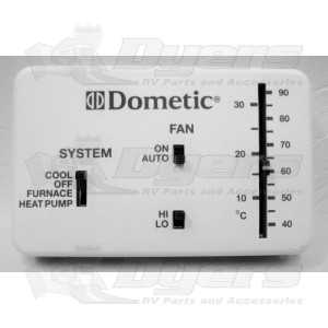 Dometic Polar White Analog Cool Furnace Thermostat Heat
