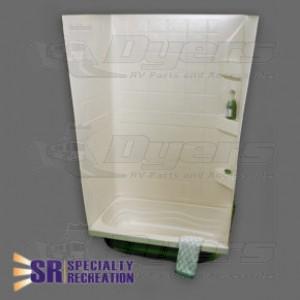 "Specialty Recreation 24"" x 40"" x 59"" Parchment Shower Surround"