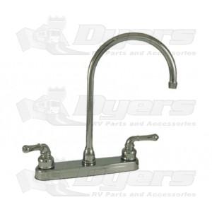 Empire Brass Company Chrome Teapot Handle Gooseneck Spout Kitchen Faucet