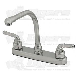 Empire Brass Company Chrome Teapot Handle High Rise Kitchen Faucet