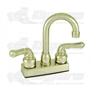 Empire Brass Company Brushed Nickel Teapot Handle Bar Faucet
