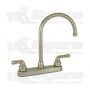 Empire Brass Company Brushed Nickel Teapot Handle Gooseneck Kitchen Faucet