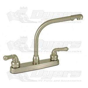 Empire Brass Company Brushed Nickel Teapot Handle High Rise Kitchen Faucet