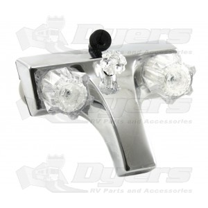 Utopia Chrome Lav-A-Shower Faucet with Clear Handles 20373207