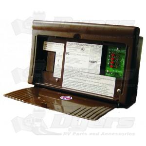 WFCO Black 12 Amp Distribution Panel Converter