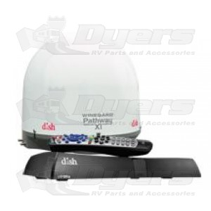 Winegard White Pathway X1 Fully Automatic Portable DISH Satellite WITH ViP211z Receiver Bundle