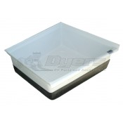"Icon 24"" x 23"" x 10"" Polar White Shower Corner Pan"