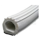 "AP Products White 1"" x 1"" x 50' Ribbed D Seal with Tape and Hats"