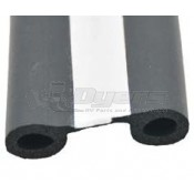 "AP Products 1-1/2"" x 1/2"" x 50' EPDM Double Bulb Seal with Tape"
