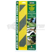 "INCOM Yellow/Black 12"" Anti-Slip Safety Grit Strips"