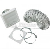 Splendide Standard Paintable Louvered Dryer Vent Kit
