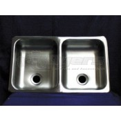 Heng's Stainless Steel 25&quot; x 15&quot; x 5&quot;  Double Sink 