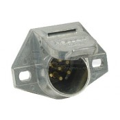 Pollak 7-Way Round Pin Wire Insert Style Socket - Car End