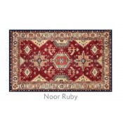 Ruggable 3' x 5' Noor Ruby Polyester Two Piece Rug System