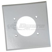 "Diamond 4"" x 4"" Receptacle Plate"